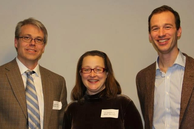 Dr. Geoffrey Hutchinson, Dr. Sarah Charney and Dr. Lawrence Brown.