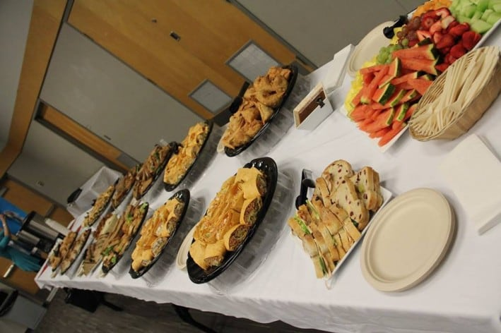 Some of the delicious foods prepared by Kwantlen's Grass Roots Café.