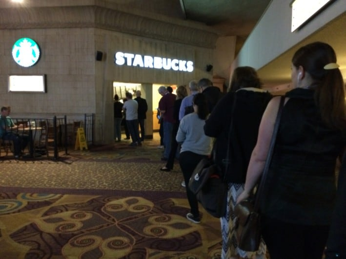 With 14,000 guests at WVC this year we learned quickly that to get a Starbucks in the morning, we needed to get up very early!