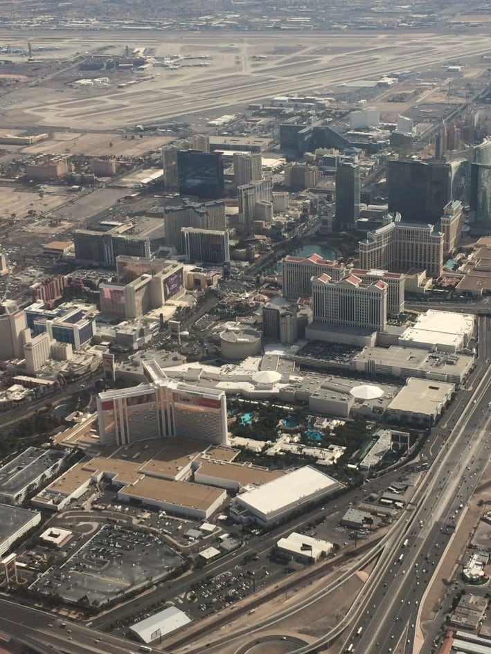 A view of the Vegas strip from above!
